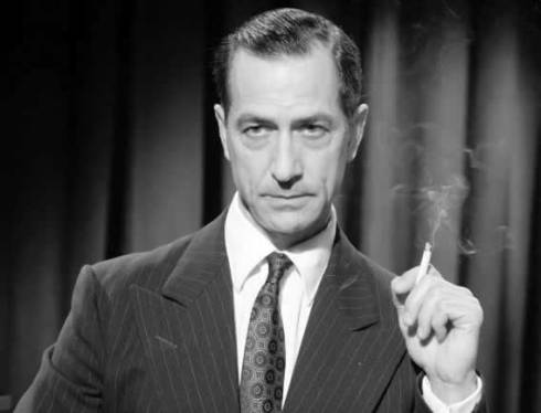 Edward R. Murrow smoking...