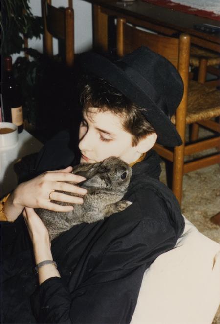 Me & my rabbit Bumpie in the eighties