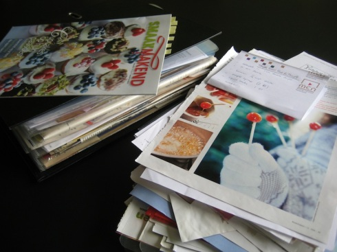 My disastrous pile of recipes