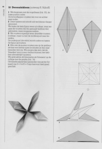 Instructions for Origami flower
