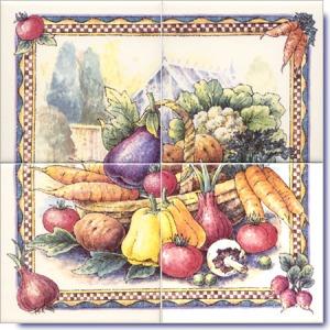 Tile combination of vegetables