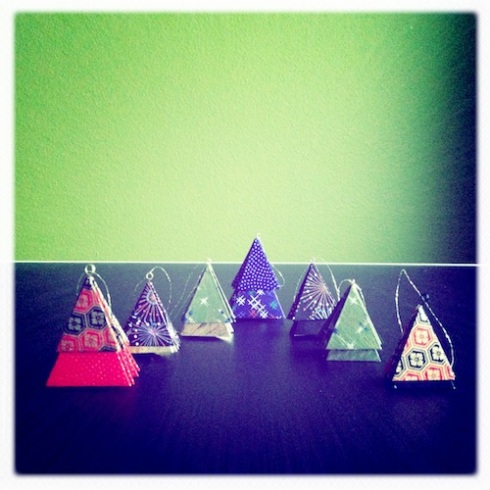 Origami Christmas Trees 2012