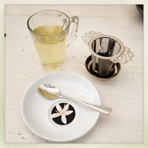 Sencha lemon green tea at Carnegie Cottage