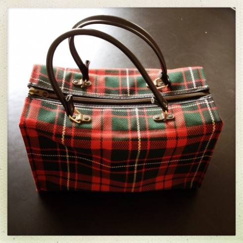 Retro plaid bag I bought